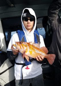 Caught a nice rockfish