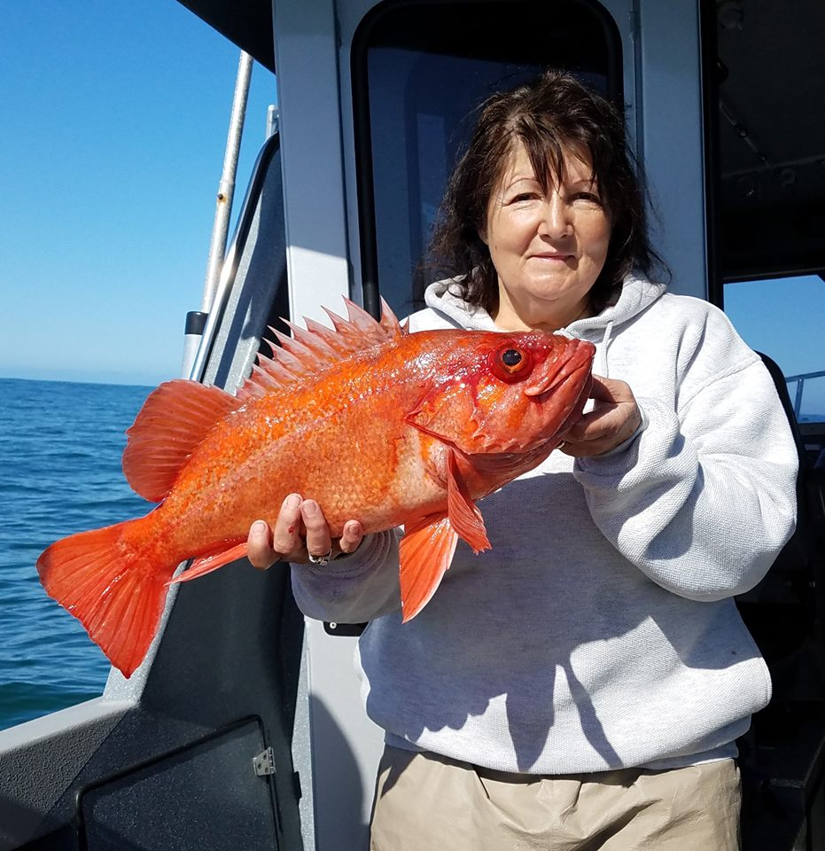 Large Rockfish Caught by Mary